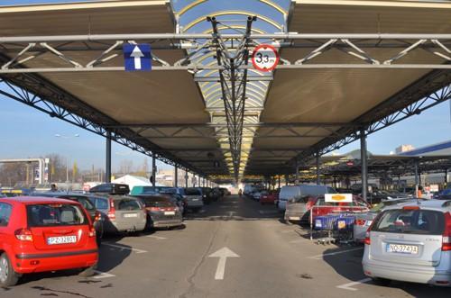 Parkplatzüberdachung SELGROS Posen