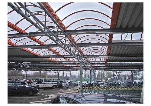 Parkplatzüberdachung FEGRO, Hamburg-Harburg