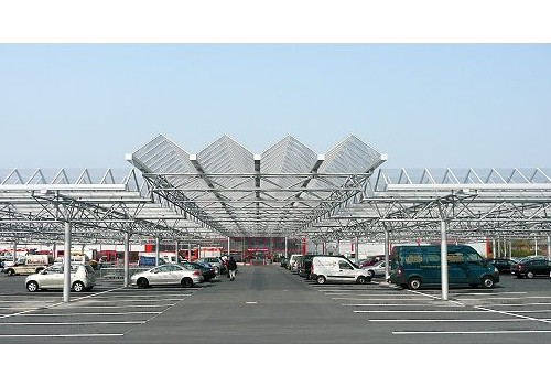 Parkplatzüberdachung RATIO Markt