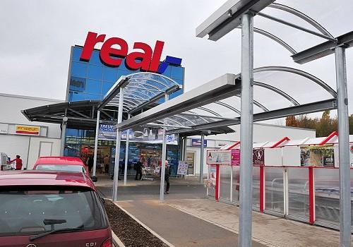 Gehwegüberdachung REAL SB-Warenhaus
