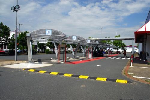 Überdachung Drive-In REAL, Isernhagen