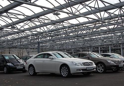 Stellplatzüberdachung Mercedes-Benz NL München