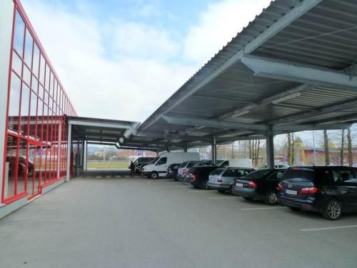 Parkplatz- & Eingangsüberdachung 1
