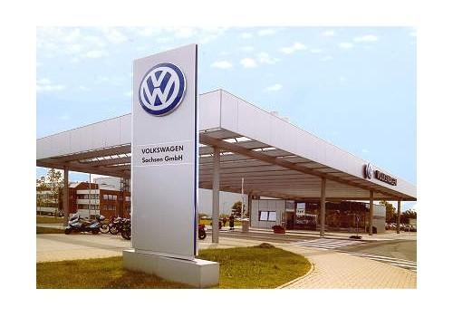 Einfahrtsüberdachung Betriebswache VW Sachsen GmbH