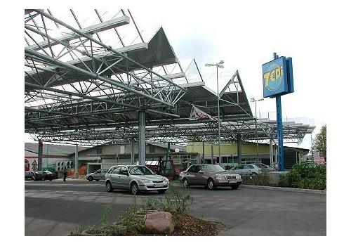 Parkplatzüberdachung Vorteil Center, Asbach