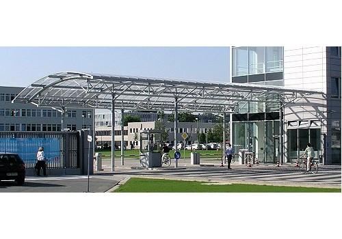 Überdachung neues Haupttor,Airbus Deutschland GmbH