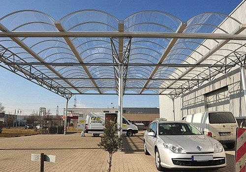 Hofüberdachung Hennig Fahrzeugteile GmbH, Frechen