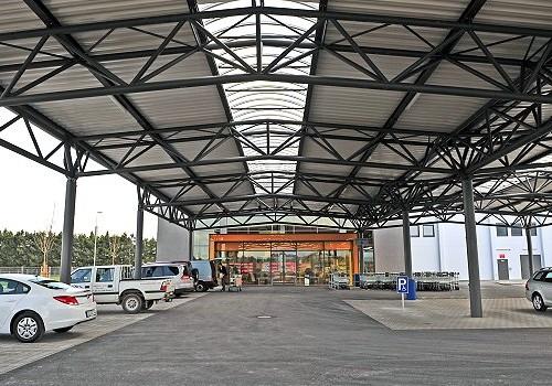 Parkplatzüberdachung C+C EDEKA, Füssen